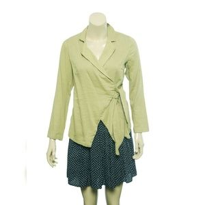 9904 Free People Wrap Tie Knot Jacket Tunic Top S